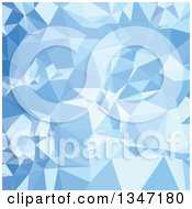 Clipart Of A Blizzard Blue Low Poly Abstract Geometric Background Royalty Free Vector Illustration
