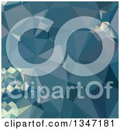 Clipart Of A Cadet Blue Low Poly Abstract Geometric Background Royalty Free Vector Illustration