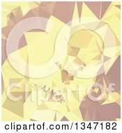 Clipart Of An Arylide Yellow Low Poly Abstract Geometric Background Royalty Free Vector Illustration