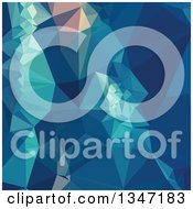 Clipart Of A Blue Low Poly Abstract Geometric Background Royalty Free Vector Illustration