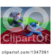 Clipart Of Caucasian Business Men Racing On A Track Royalty Free Illustration by Prawny