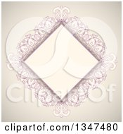 Clipart Of A Vintage Pink And Beige Diamond Frame Royalty Free Vector Illustration by KJ Pargeter