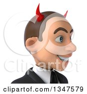 Clipart Of A 3d Avatar Of A Young White Devil Businessman Facing Right Royalty Free Illustration by Julos