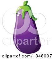 Clipart Of A Cartoon Purple Eggplant 4 Royalty Free Vector Illustration