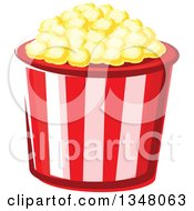 Clipart Of A Cartoon Striped Popcorn Bucket Royalty Free Vector Illustration by Vector Tradition SM
