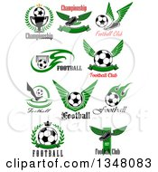 Sports Designs With Text And Soccer Balls