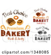 Clipart Of Sweets And Bakery Text Designs Royalty Free Vector Illustration