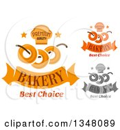 Clipart Of Muffin And Bagel Bakery Designs Royalty Free Vector Illustration by Vector Tradition SM