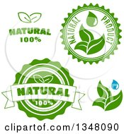 Green Leaf Natural Label Designs