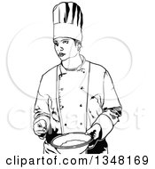 Black And White Female Chef Holding A Bowl