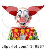 Clipart Of A 3d Avatar Of A Funky Clown Royalty Free Illustration by Julos