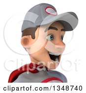 Clipart Of A 3d Avatar Of A Young White Male Super Hero Mechanic In Gray And Red Royalty Free Illustration by Julos