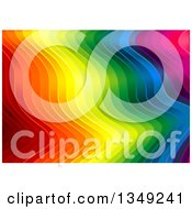 Clipart Of A Background Of Vibrant Colorful Rippling Stripes Royalty Free Vector Illustration