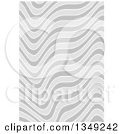 Clipart Of A Background Of Gray Rippling Stripes Royalty Free Vector Illustration