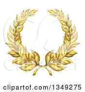 Round Gold Laurel Wreath