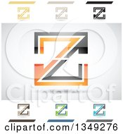 Clipart Of Abstract Letter Z Logo Design Elements Royalty Free Vector Illustration by cidepix