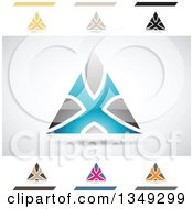 Clipart Of Abstract Letter X Logo Design Elements Royalty Free Vector Illustration by cidepix