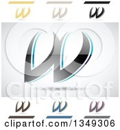 Clipart Of Abstract Letter W Logo Design Elements Royalty Free Vector Illustration