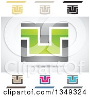 Clipart Of Abstract Letter U Logo Design Elements Royalty Free Vector Illustration by cidepix