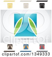 Clipart Of Abstract Letter T Logo Design Elements Royalty Free Vector Illustration