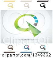 Clipart Of Abstract Letter Q Logo Design Elements Royalty Free Vector Illustration by cidepix