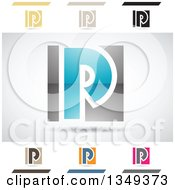 Clipart Of Abstract Letter P Logo Design Elements Royalty Free Vector Illustration