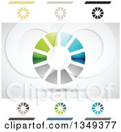 Clipart Of Abstract Letter O Logo Design Elements Royalty Free Vector Illustration by cidepix