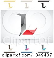 Clipart Of Abstract Letter L Logo Design Elements Royalty Free Vector Illustration by cidepix