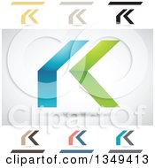 Clipart Of Abstract Letter K Logo Design Elements Royalty Free Vector Illustration