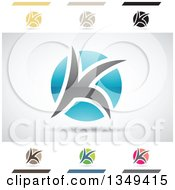 Clipart Of Abstract Letter K Logo Design Elements Royalty Free Vector Illustration by cidepix