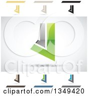 Clipart Of Abstract Letter J Logo Design Elements Royalty Free Vector Illustration by cidepix