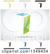 Clipart Of Abstract Letter I Logo Design Elements Royalty Free Vector Illustration by cidepix