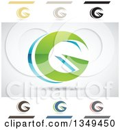Clipart Of Abstract Letter G Logo Design Elements Royalty Free Vector Illustration by cidepix