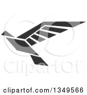 Clipart Of A Black And White Flying Peace Dove 3 Royalty Free Vector Illustration by Vector Tradition SM