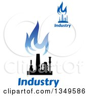 Black And Blue Natural Gas And Flame Designs With Text 25