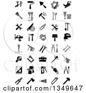 Clipart Of Black And White Tool Icons Royalty Free Vector Illustration