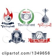 Text And Volleyball Designs