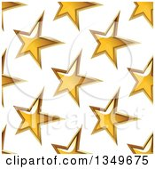 Clipart Of A Seamless Background Pattern Of Gold Stars 5 Royalty Free Vector Illustration