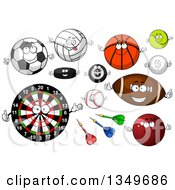 Poster, Art Print Of Cartoon Sport And Recreation Characters