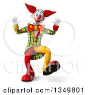 Clipart Of A 3d Funky Clown Dancing Royalty Free Illustration by Julos
