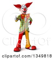 Clipart Of A 3d Funky Clown Giving A Thumb Up Royalty Free Illustration