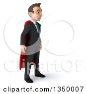 Clipart Of A 3d Young Super White Business Man Facing Right Royalty Free Illustration by Julos