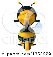 Clipart Of A 3d Female Bee Meditating Royalty Free Illustration by Julos