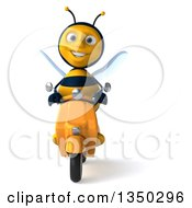 3d Male Bee Driving A Scooter