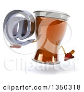 Clipart Of A 3d Beer Mug Character Shrugging And Holding An Email Arobase At Symbol Royalty Free Illustration by Julos