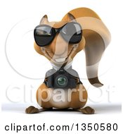 Clipart Of A 3d Business Squirrel Wearing Sunglasses And Holding A Camera Royalty Free Illustration by Julos