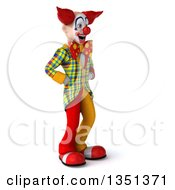 Clipart Of A 3d Funky Clown Facing Right Royalty Free Illustration by Julos