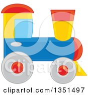 Clipart Of A Toy Train Royalty Free Vector Illustration