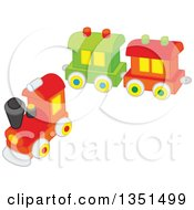 Clipart Of A Connectable Toy Train Royalty Free Vector Illustration by Alex Bannykh