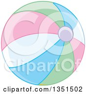 Clipart Of A Pastel Colorful Beach Ball Royalty Free Vector Illustration
